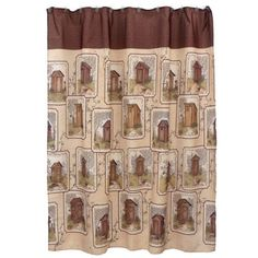 NEW Outhouses Shower Curtain By Linda Spivey 15509 #SaturdayKnight #Country  Outhouse Shower Curtain