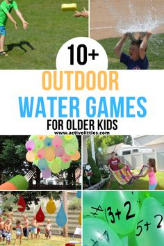 55  Best Backyard Water Games for Toddlers and For Kids - Active Littles Outdoor Games For Preschoolers, Team Games For Kids, Fun Outdoor Activities, Water Games For Kids, Fun Summer Activities, Outdoor Games For Kids, Outdoor Learning, Water Activities, Summer Activities For Kids
