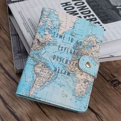 Flamingo Map Passport Covers Travel Accessories Creative PU Leather ID Bank Card Bag Men Women Passport Business Holder Travel Accessories For Men, Women Accessories, Cute School Supplies, Passport Cover, Passport Travel, Travel Luggage, Bank Card, Travel Maps, Travel Plane
