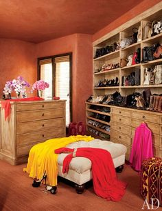 Will and Jada Pinkett Smith's closet in their Malibu home.   Photo: Roger Davies