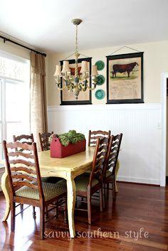 Farm style dining room