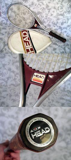 $49.99 or best offer Vtg 1980's HEAD AMF EDGE Aluminum Tennis Racket w Cover
