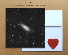 Blank photo card printed on recycled paper // shared with love // profits support charity // galaxy of stars taken in Ukraine (©Oleg Bryzgalov)