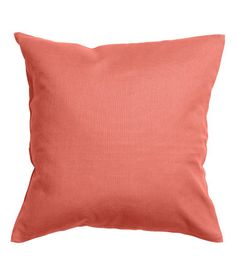 Cushion cover in cotton canvas with concealed zip. H&M Coral 16x16 $5.00