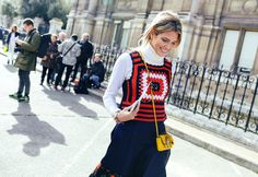 Helena Bordon in a Miu Miu vest and Fendi bag #fashionhandbags