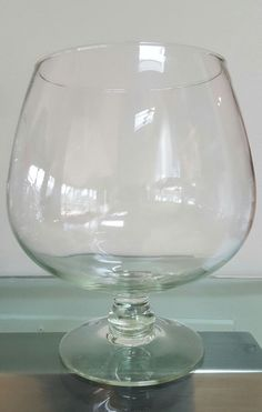 "VTG EXTRA LARGE BRANDY SNIFTER, 9"" TALL FISH BOWL, TERRARIUM, CENTERPIECE, ETC"