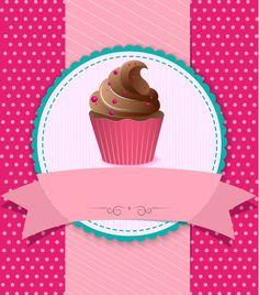 Fondo vintage cupcake Vector Premium | Premium Vector #Freepik #vector #fondo #flyer #cartel #comida Cupcake Illustration, Cupcake Logo, Cupcake Vector, Rose Cupcake, Cupcake Vintage, Fondant Cupcake Toppers, Cupcake Cakes, Baking Logo, Cake Logo Design