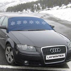 Protector para parabrisas Laywinter que evita que sobre la luna delantera del vehículo se deposite hielo y nieve. http://recambiosparaelcoche.com/products/protector-para-parabrisas-laywinter/