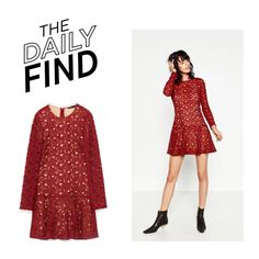 """""""The Daily Find: Zara Dress"""" by polyvore-editorial ❤ liked on Polyvore featuring DailyFind"""