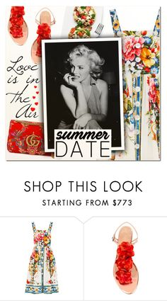 """""""Smokin' Hot: Summer Date Night"""" by vampirella24 ❤ liked on Polyvore featuring Dolce&Gabbana, Charlotte Olympia and Gucci"""