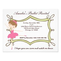 66 best dance recital invitations images on pinterest in 2018 ballet recital invitation stopboris Image collections