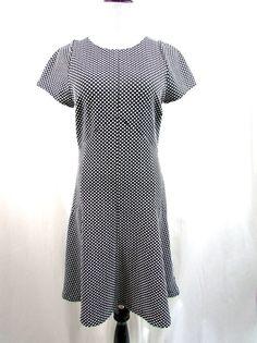 Banana Republic Textured Polka Dot Black White Dress Size 10 NWT New $130.00…
