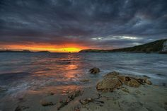 'Stormy Sunset' - Llanbadrig Beach, Anglesey  by Kristofer Williams