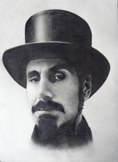 #Serj Tankian Pencil on Paper 30x40 cm Repin and follow!