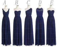 navy blue bridesmaid dresses long bridesmaid dress by Yesdresses, $119.00