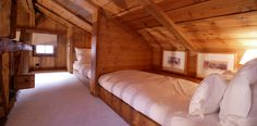 Awesome way to use the upstairs attic space for a small lodge/cabin sleeping area