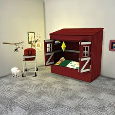 Leo 4 Sims: Toddler House Bed • Sims 4 Downloads