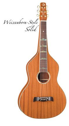 Luna Weissenborn-Style Solid Mahogany Top Acoustic Lap Steel with Hardshell Case