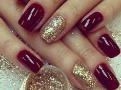 maroon christmas nail art designs …