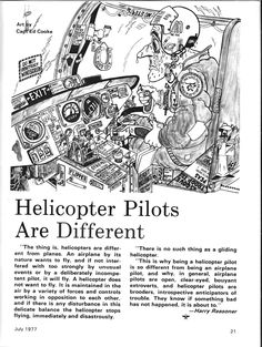 Helicopter Pilot Cartoon - having a laugh, serious lessons at learntofly.co.nz