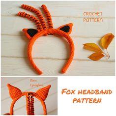 Crochet Bunny Pattern, Unicorn Pattern, Crochet Fox, Easter Crochet, Crochet Toys Patterns, Stuffed Toys Patterns, Crochet Ideas, Summer Headbands, Headband Pattern