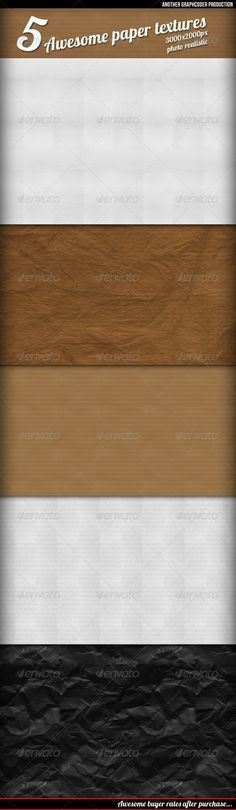 5 Awesome Retro Paper Textures/  Backgrounds