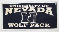 NCAA University of Nevada Wolf Pack Felt Flag Banner Metal Grommets 35 X 18 NWOT… Nevada Wolf Pack, Utah Utes, Men's Clothing, University, Banner, Soccer, Flag, Futbol, Football