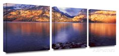 Jenny Lake sun rise 3-Piece Canvas Set Posters by Dean Uhlinger at AllPosters.com