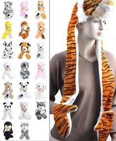 `Hat-imals` Plush Animal Winter Hats with Paws (Collection 4)  10.97 e3ca8d5bffde