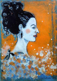 "Saatchi Art Artist Stéphanie de Malherbe; Drawing, ""FLAMENCO DREAM"" #art"
