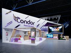 Condor on Behance Exhibition Stall, Exhibition Stand Design, Exhibition Display, Web Banner Design, Event Marketing, Facade Architecture, Minimal Design, Trade Show, Science And Technology