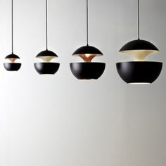 DCW Éditions Black Inside White Here Comes The Sun Pendant Light - Trouva Home Lighting, Modern Lighting, Pendant Lamp, Pendant Lighting, Retro Beach House, Dcw Editions, Black Bath, Here Comes, Bath Remodel