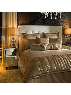Kylie Minogue Safia super king duvet cover caramel - House of Fraser beautiful
