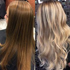 Blonde balayage #modernsalon #behindthechair #hairbyashcha #balayage #blondebalayage