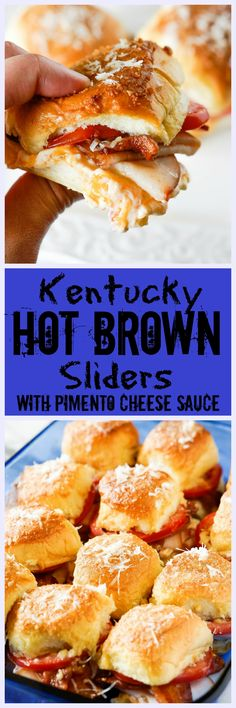 Kentucky Hot Brown Sliders with Pimento Cheese Sauce