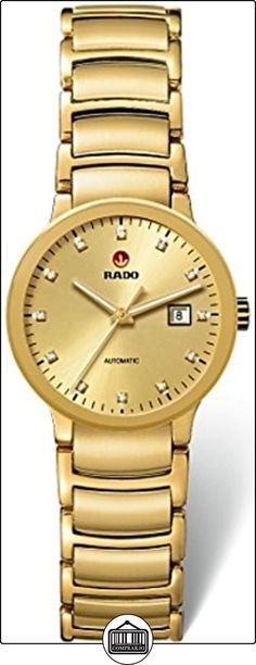 RADO RELOJ DE MUJER AUTOMÁTICO CORREA Y CAJA DE ACERO DORADO R30280703  ✿ Relojes para mujer - (Lujo) ✿