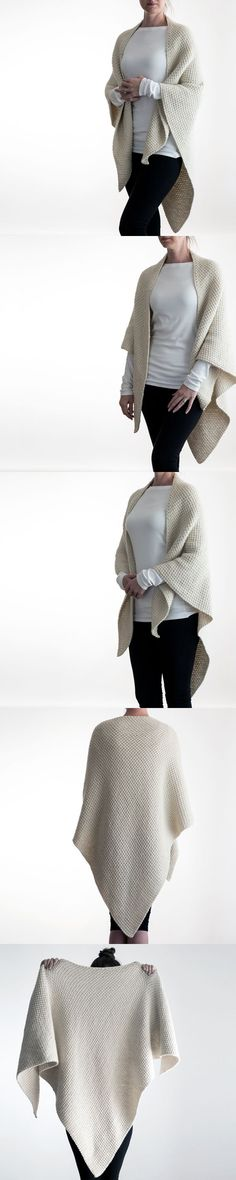 FREE Over-sized Shawl Knitting Pattern by Brome Fields {Unconditional Love}. Reversible, it's the same on the front and back.