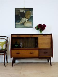 Rare Mid Century G Plan Two Tone Sideboard with Display Cabinet Retro Vintage | eBay
