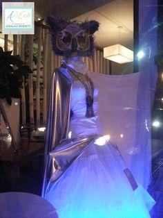 Halloween Fashion Windows Style by ArtEcò Creazioni di Annalisa Benedetti  to LUCIFERO CAFE' #artecòcreazioni #halloween #style #stylist #mask