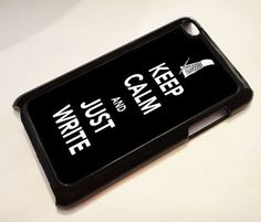 Keep Calm and Just Write   iPod 4G case iPod 4G by ExpressoPrint, $19.95