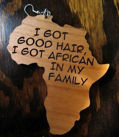 Photo: I got good hair, I got African in my family.