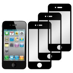Screen Protector Film for iPhone 4  4S - (3 Pack) Bubble Free