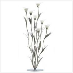 Gifts  Decor Silver Calla Lily Bunch Tealight Candle Holder Art Deco -- See this great product.Note:It is affiliate link to Amazon.