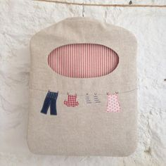 Ticketty Boo. Ticketty Boo Linen Washing Line Peg Bag