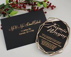 Handpicked Wedding Invitation Ideas You Can Go For. Acrylic Wedding Invitations, Handmade Wedding Invitations, Wedding Invitation Cards, Wedding Cards, Invitation Card Design, Invitation Envelopes, Card Envelopes, Invitation Ideas, Seating Plan Wedding