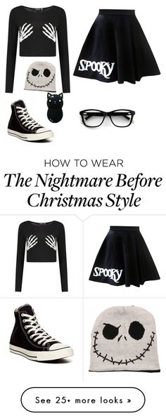 """Halloween"" by debug-bug on Polyvore featuring Converse"