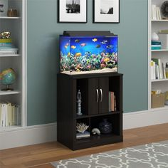Kings Royal 20 Gallon Aquarium Stand, Organic Pet World Fish Tanks