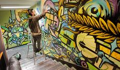 spectrum street art big walls christchurch - Google Search Stand Tall, Urban Art, Spectrum, Street Art, Walls, Google Search, Big, Painting, City Art