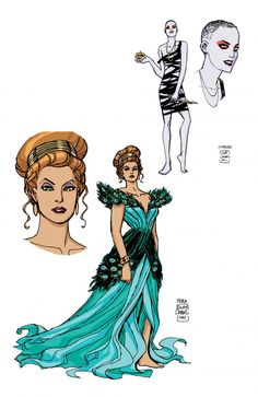 Cliff Chiang. Character designs