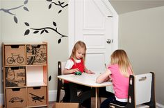 Kids Modern Table and Chairs by Sprout